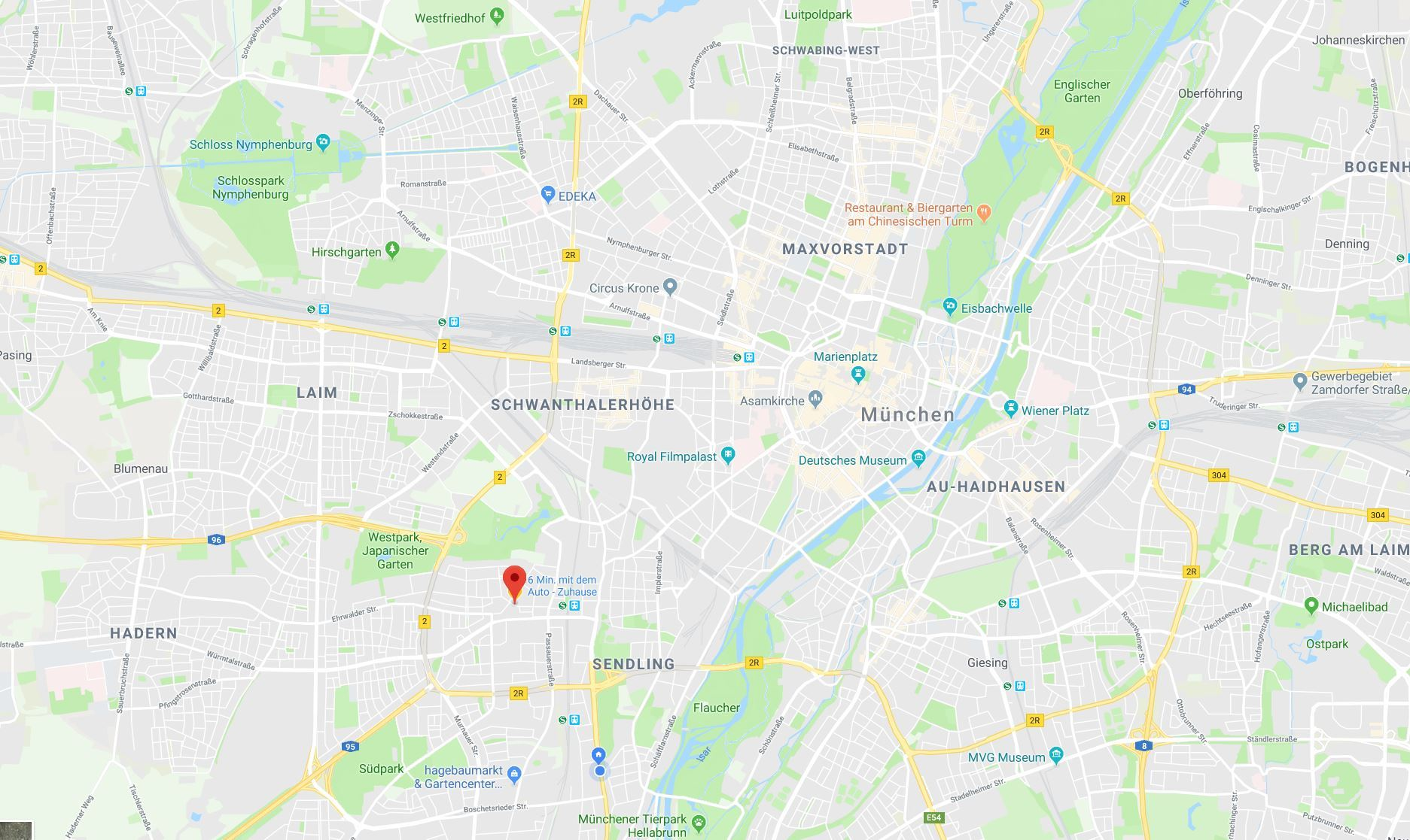 Munich SUP Google Map